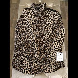 NWT Zara cheetah print top